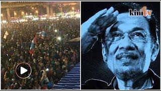 LIVE: Ribuan hadir pidato pertama Anwar selepas bebas