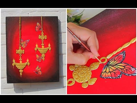 DIY Clay Mural Painting for Beginners Step by Step