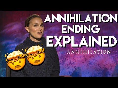 Natalie Portman explains the ending of ANNIHILATION with the cast