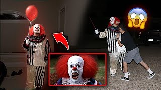 """SCARY KILLER """"IT"""" CLOWN PRANK GONE WRONG!! *HE PUNCHED HIM*"""