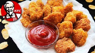 Real KFC Chicken Nuggets Recipe ♥ HOW TO MAKE  NUGGETS ♥ KFC Chicken Nuggets At Home ♥ Tasty Cooking