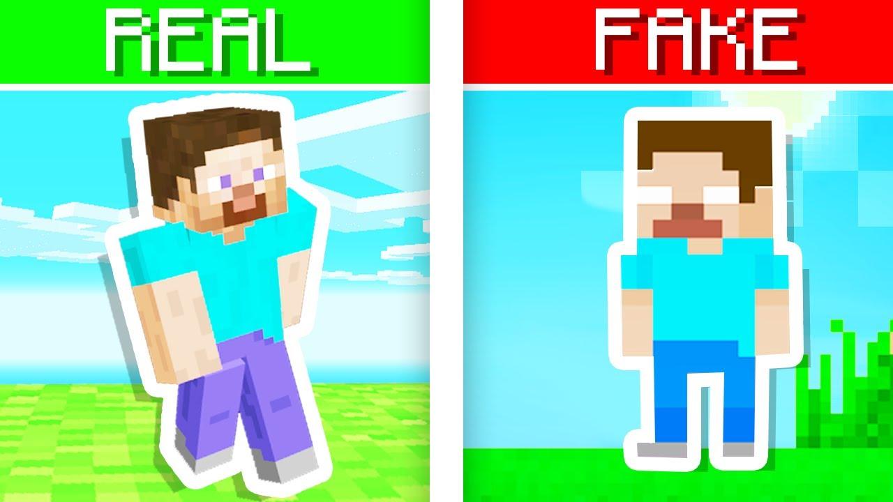 Playing FAKE Minecraft Games..
