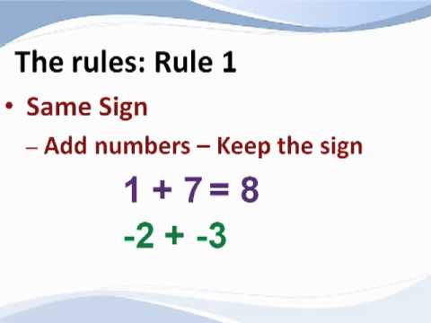How to Add & Subtract Integers