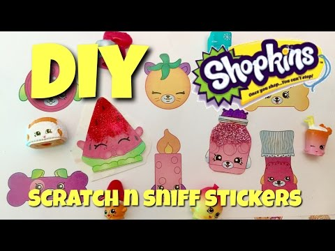 Shopkins DIY Craft:  How to Make Shopkins and Perkins Scratch and Sniff Stickers