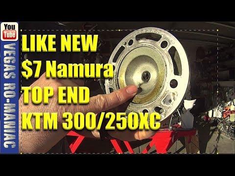 $7 Top End Rebuild NAMURA Single RING KTM 300/250 XC 2 Stroke