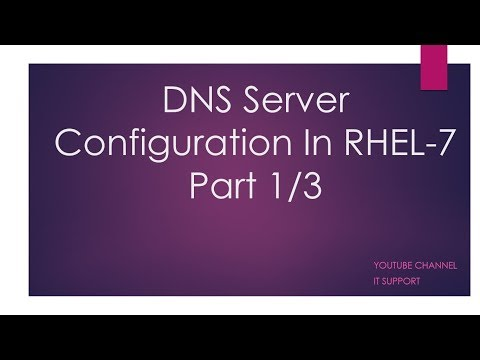 DNS Server Configurations in RHEL-7 - In Hindi Video 1/3