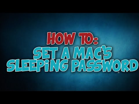 TUTORIAL: How to Set a Mac's Sleeping Password