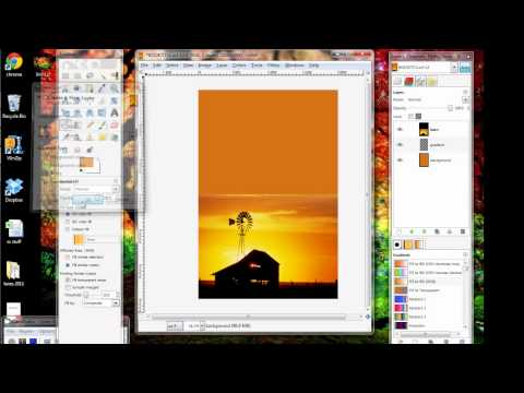 GIMP Tutorial_Making an eBook Cover 2-Background and Gradient.avi