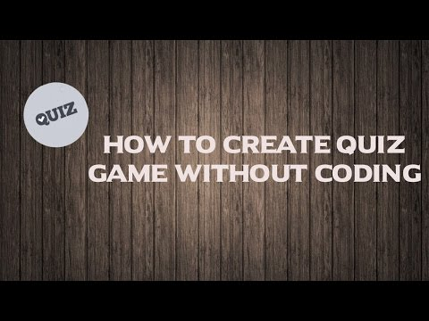 How to create quiz game without coding [Part 1]