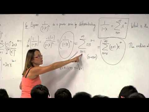 Math 2B. Calculus. Lecture 26. Representing Functions as Power Series