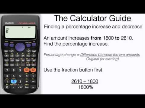 How To Find A Percentage Increase & Decrease On Calculator - Formula - Casio fx-83GT fx-85GT PLUS