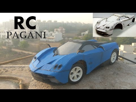 How To Make A RC Car At Home Step by Step |Cardboard DIY |DC motor | PAGANI HUAYRA
