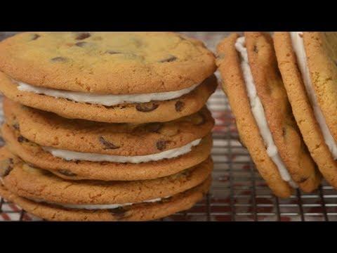 Chocolate Chip Sandwich Cookies Recipe Demonstration - Joyofbaking.com