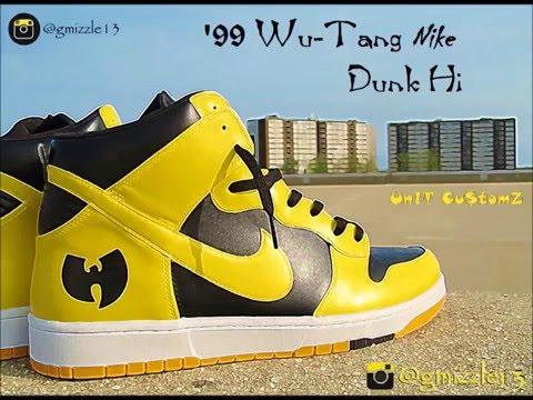 How to Paint '99 Wu-Tang Nike Dunk-Hi (Custom Sneakers) Timelapsed Video