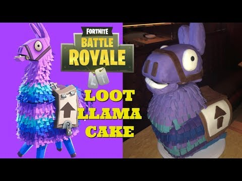 Fortnite Battle Royale Supply Loot Llama Cake is Finished! I Food I How to Cook Craft & Kids