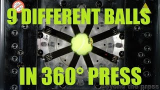 The Most Satisfying Hydraulic Press Video - Crimping Different Balls