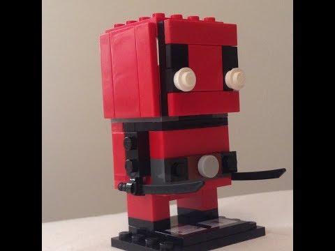 How to build LEGO BrickHeadz Deadpool