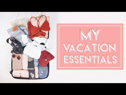 My Vacation Essentials (Packing Clothes for Taiwan!)