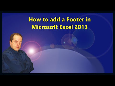 How to add a Footer in Microsoft Excel 2013