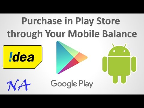 How to Pay through your mobile balance in PlayStore