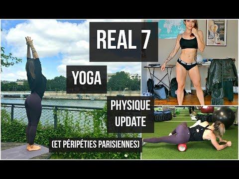 REAL 7 : Ma routine yoga/pilates I Physique update I Comment changer de leggings en plein Paris