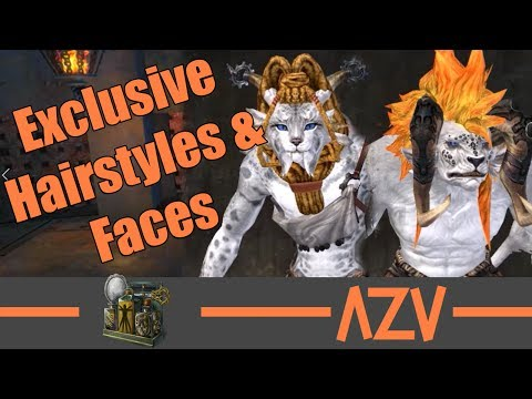 GW2: 🔥 All exclusive Charr hairstyles and faces 🔥