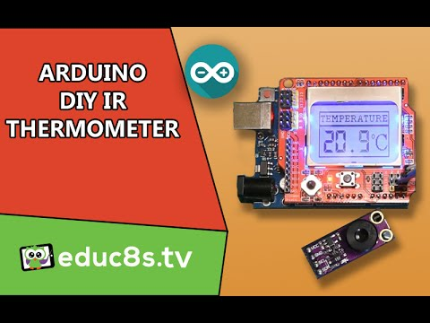 Arduino Project: IR thermometer using the MLX90614 IR temperature sensor from icstation.com