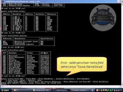 Entity Relationship MySQL   CMD