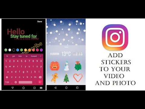 Instagram New Feature : Stickers and Hands-Free