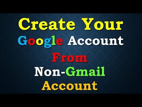 Create Google Account from Non Gmail ID | Using Your Website Email ID