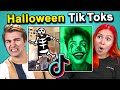 Adults React To And Try Halloween Tik Tok Challenges Spooky Scary Skeletons Beetlejuice