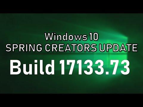 Windows 10 Spring Creators Update Build 17133.73