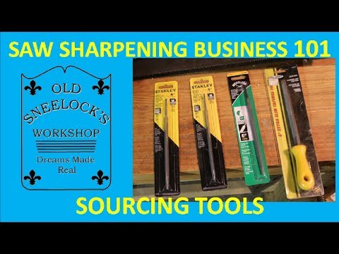 SAW SHARPENING 101 ~ SOURCING TOOLS
