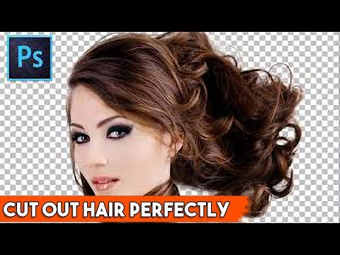 How to Cut Out Hair perfectly for beginners in Photoshop Tutorial