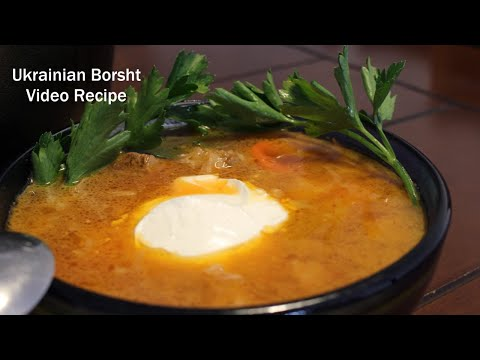 How to make Borscht - Classic Ukrainian Soup with Beef and Beets Tutorial