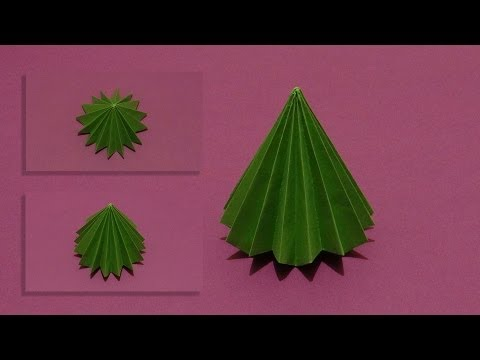 How To Make An Origami 3D Tree 01