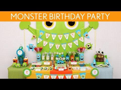 Little Monster Birthday Party Ideas // Little Monster - B106