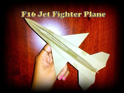 How to make world's best paper airplane model- F-16 fighter plane. Easy to make.