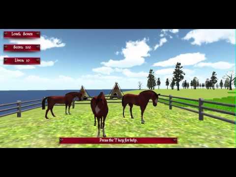 Game Horse Corral Scene