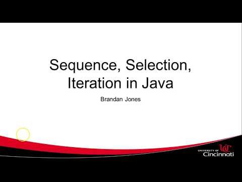 Sequence, Selection, Iteration in Java