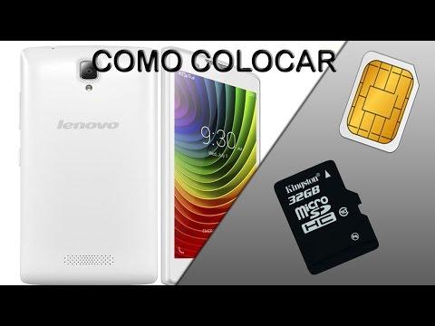 Lenovo A2010 Como Insertar Simcard y MicroSD