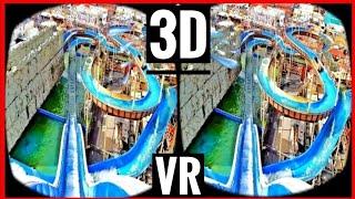 VR Videos 3D VR Roller Coaster 3D SBS WaterSlide VR 4K for VR BOX - Log Flume POV Ride
