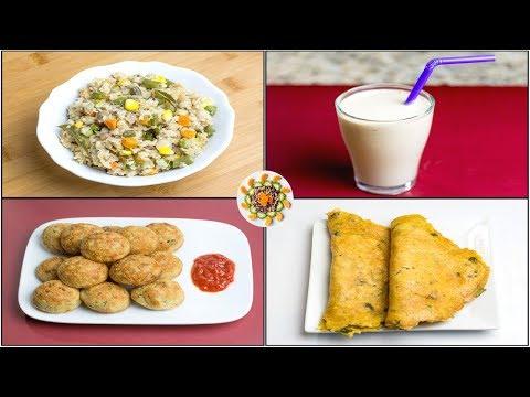 Oats Breakfast Recipe For Weight Loss | Oats Breakfast Recipe Indian | Oats Breakfast 4 Ways