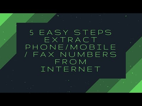5 Easy Steps Extract Phone/MOBILE/ FAX numbers from internet
