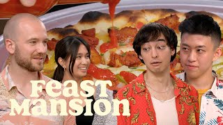 Download Joji and Rich Brian Have a Pizza Battle with Sean Evans (Part 2) | Feast Mansion Video