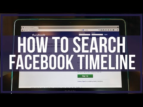 How To Search Someone's Facebook Timeline - Full Tutorial