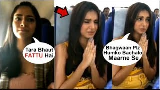 Download Ananya Panday Makes FUN Of Tara Sutaria For Getting SACRED While On The Plane Video