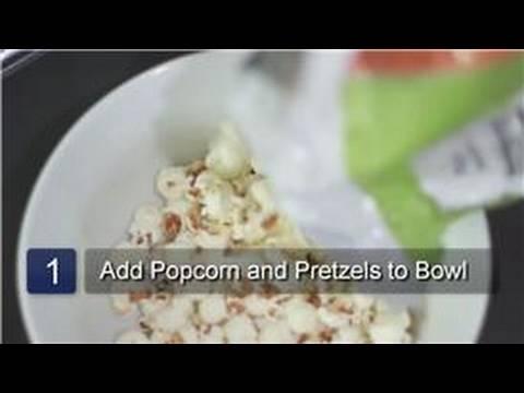 Pretzels : White Chocolate Covered Popcorn & Pretzel Mix Recipe