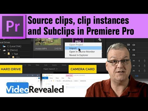 Source clips, clip instances and Subclips in Adobe Premiere Pro