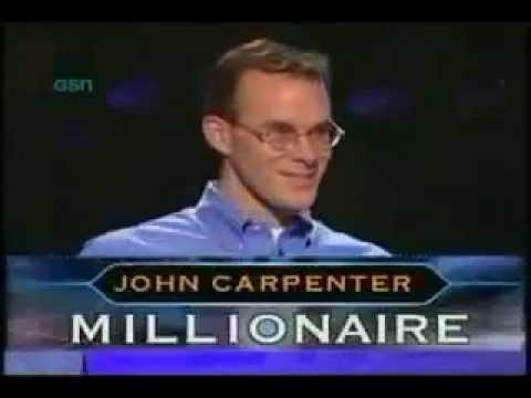 winning like a boss - Who Wants to Be A Millionaire Winner - John Carpenter call his father